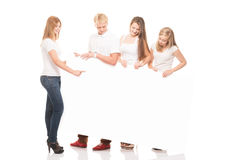 Group of young, stylish and happy teenagers Stock Image