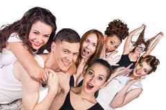 Group of young surprised people Royalty Free Stock Photography