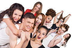Group of young surprised people Royalty Free Stock Photo