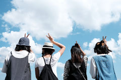 A group of young teenager friends stock photos