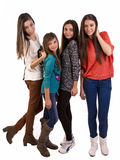 Group of young teens Royalty Free Stock Image