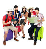 Group of young tourist Royalty Free Stock Images