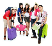 Group of young tourist Stock Photos