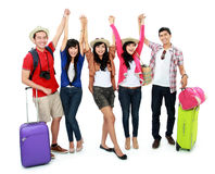 Group of young tourist Royalty Free Stock Photo