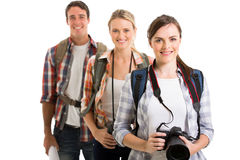 Group young tourists Stock Image