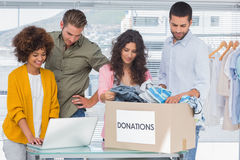 Group of young volunteers Stock Image