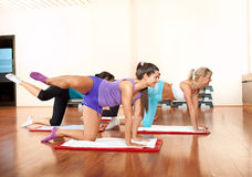 Group of young women exercising Stock Images