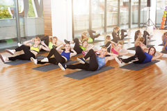 Group of young women in the fitness class Stock Photography