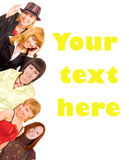 Group of youth with template text Royalty Free Stock Photo
