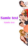 Group of youth with template text Royalty Free Stock Image