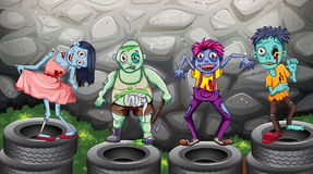 A group of zombies Stock Photo