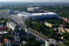 Groupama Arena Budapest Stadium. From up above Stock Photography