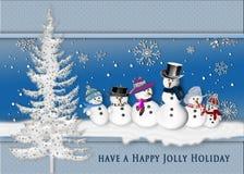 Groupd of Snowmen Stock Photography