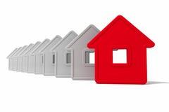 Groupe abstrait de maisons illustration libre de droits