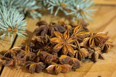 Groupe of anis stars. Groupe of anise stars on a desk Stock Images