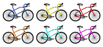 Groupe arrondi par vélo Illustration Stock