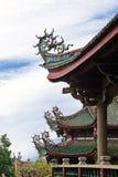 Groupe au sujet de pavillon chinois Images libres de droits