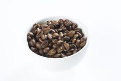 Groupe avec la cuvette de café blanche Images stock