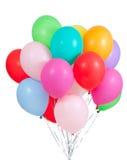 Groupe coloré de ballons d'isolement sur le blanc photo libre de droits