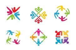 Groupe coloré Team Logo Design de personnes Image libre de droits