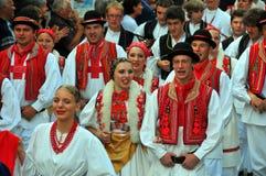 Groupe croate de danse Images libres de droits