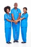 Équipe médicale africaine images libres de droits