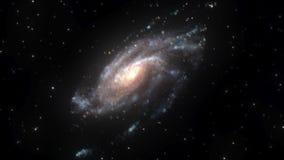 Groupe d'étoile dans l'espace avec la rotation dans le sens contraire des aiguilles d'une montre illustration de vecteur