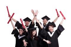 Groupe d'étudiant de diplômés heureux Photo libre de droits