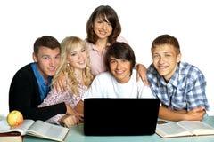 Groupe d'étudiants Images stock