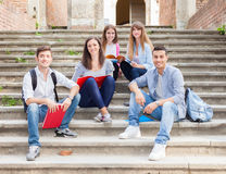 Groupe d'étudiants Photo stock