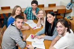 Groupe d'étudiants de sourire Photographie stock