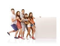 Groupe d'étudiants heureux Photos libres de droits