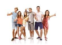 Groupe d'étudiants heureux Images stock