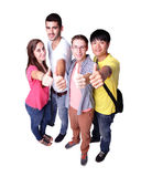 Groupe d'étudiants heureux Images libres de droits