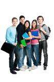 Groupe d'étudiants heureux de sourire Images libres de droits
