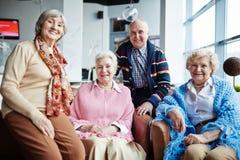 Groupe d'aînés Photos libres de droits