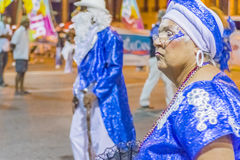 Groupe d'aînés costumés marchant au carnaval de l'Uruguay Photographie stock