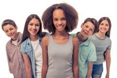 Groupe d'adolescents Photo libre de droits
