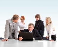 Groupe d'affaires au travail Image libre de droits