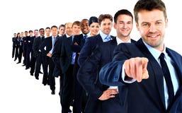 Groupe d'affaires dans une rangée Photographie stock