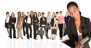 Groupe d'affaires de femme seulement images stock