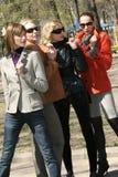 Groupe d'amies de femmes Image libre de droits