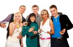 Groupe d'amis à une réception Photos libres de droits
