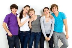 Groupe d'amis Photo libre de droits