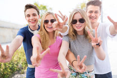 Groupe d'amis Image libre de droits