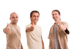 Groupe d'amis affichant des pouces vers le haut Photos libres de droits
