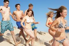 Groupe d'amis appréciant des vacances Photographie stock