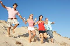 Groupe d'amis appréciant des vacances de plage Photographie stock libre de droits