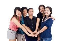 Groupe d'amis asiatiques Photographie stock libre de droits