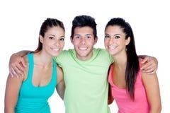 Groupe d'amis avec des vêtements de forme physique Photo stock